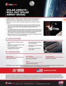 SOLAR ARRAYS –ROLL OUT SOLAR ARRAY (ROSA)
